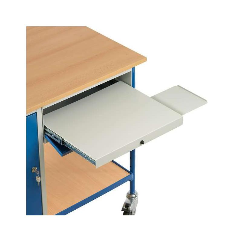Table roulante 1 tiroir et 1 placard pour les professionnels for Table tiroir escamotable