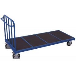 Chariot avec 1 dossier tubulaire pour charges lourdes