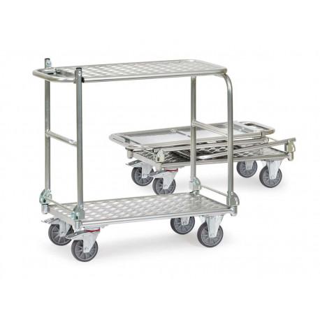 image cover Chariot pliant en aluminium à 2 plateaux