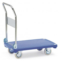 Chariot pliant à 1 plateau plastique