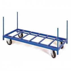 Chariot charges longues à 4 chandelles amovibles