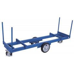 Chariot pour long matérial avec 4 montants
