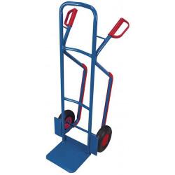 Diable haut en tube d'acier avec brancards pour transport en escalier