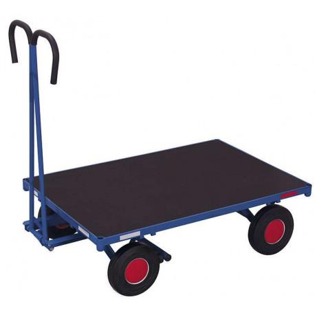 Remorque manuelle sans ridelles - 700 kg de charges