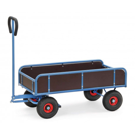 image cover Remorque à bras avec 2 essieux et 4 ridelles