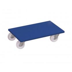 Plateau roulant avec roulettes pivotantes en plastique