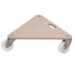 Plateau roulant triangulaire - roues en plastique