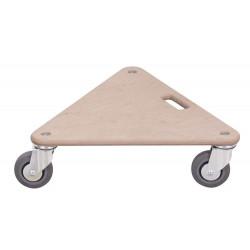 Plateau roulant triangulaire - roues caoutchouc