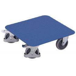 Plateau roulant pour caisses avec surface en tôle striée