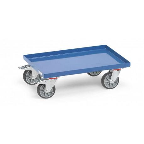 image cover Rouleur de bacs avec rebord en acier
