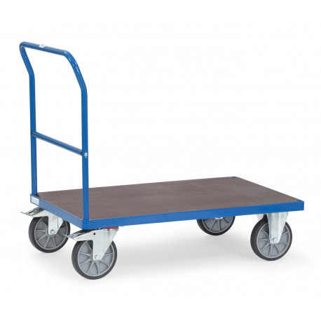 Chariot à dossier de poussée pour charges lourdes