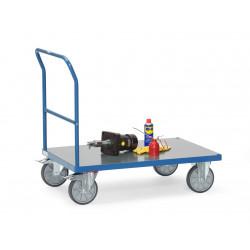 Chariot à dossier de poussée avec plateau en PVC dur