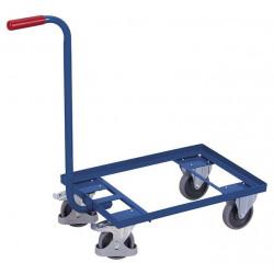 Chariot col de cygne à 1 plateau tubulaire carré