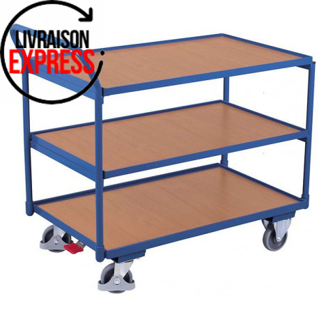 image cover Chariot à 3 plateaux en bois