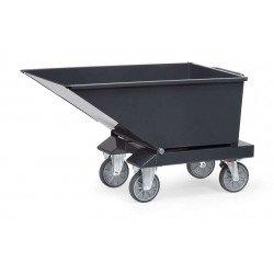 Benne basculante chariot en gris anthracite