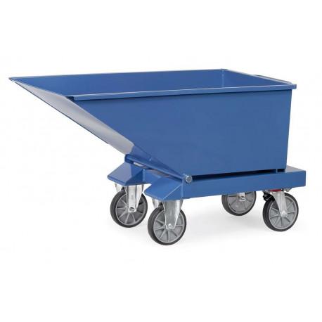image cover Benne basculante chariot en tôle d'acier