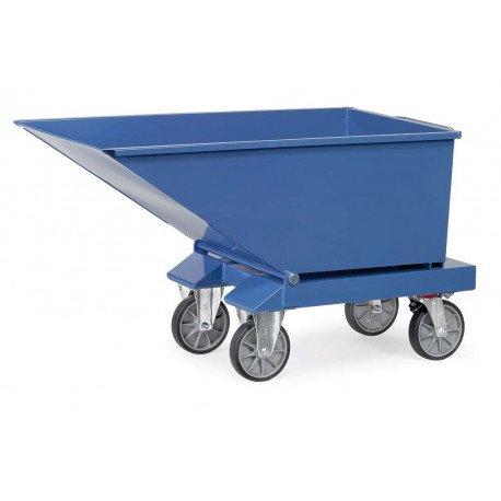 Benne basculante chariot en tôle d'acier