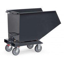Benne basculante chariot en gris
