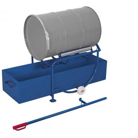 Basculeur de fûts avec cuve de rétention d'un volume de 203 litres