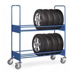 Chariot pour pneumatiques avec 2 étages