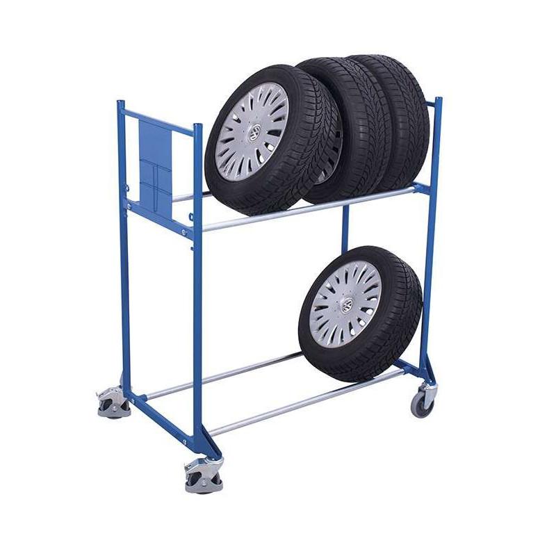 chariot pour pneus 2 tages pour les professionnels. Black Bedroom Furniture Sets. Home Design Ideas