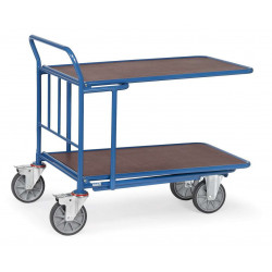 Chariot emboîtable à 2 étagères