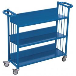 Chariot pour le transport et pour le stockage des livres