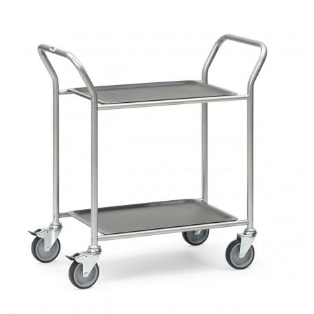 image cover Chariot de service en aluminium à 2 plateaux