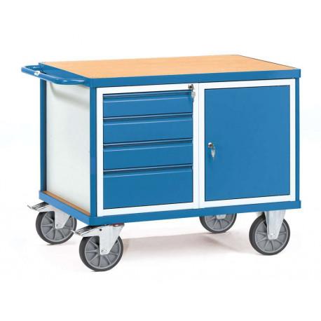 Servante d'atelier avec 1 placard et 4 tiroirs