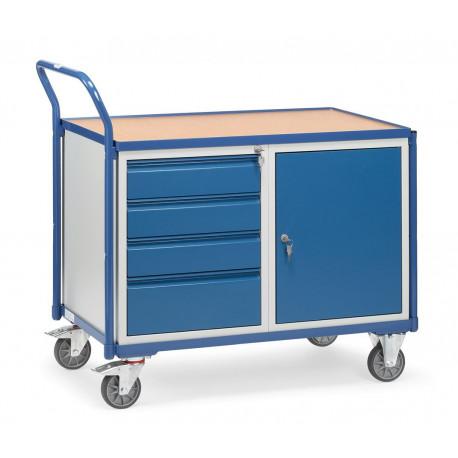 image cover Servante d'atelier avec placard et 4 tiroirs