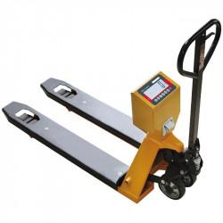 Transpalette peseur, portée max. jusqu'à 2000 kg, précision de 500 g à 1 kg