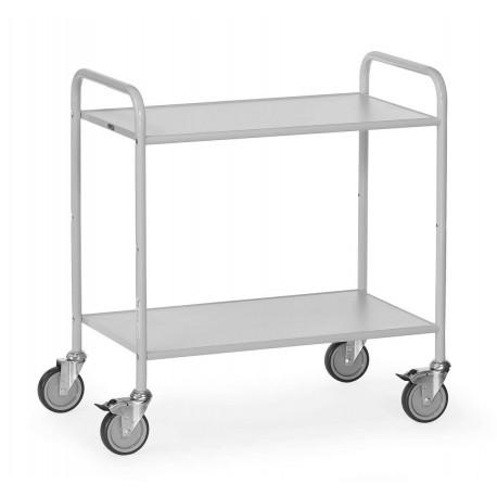image cover Chariot de service à 2 plateaux gris clair