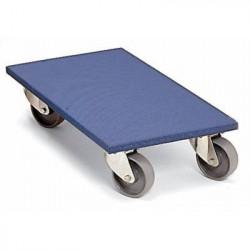 Plateau roulant avec revêtement synthétique bleu