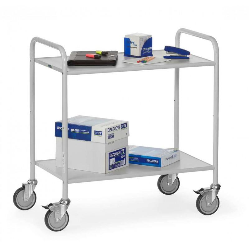 chariot de service 2 plateaux gris clair pour les professionnels. Black Bedroom Furniture Sets. Home Design Ideas
