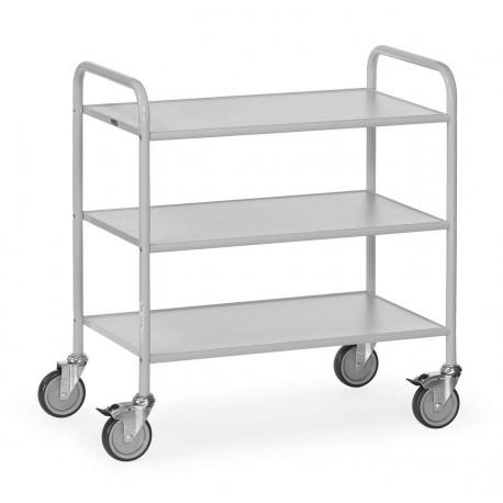 image cover Chariot de service à 3 plateaux en gris clair