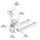 Transpalette semi-électrique compact 1500 kg