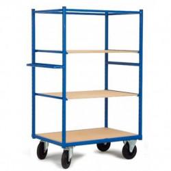 Chariot haut à 2 étagères réglables et amovibles