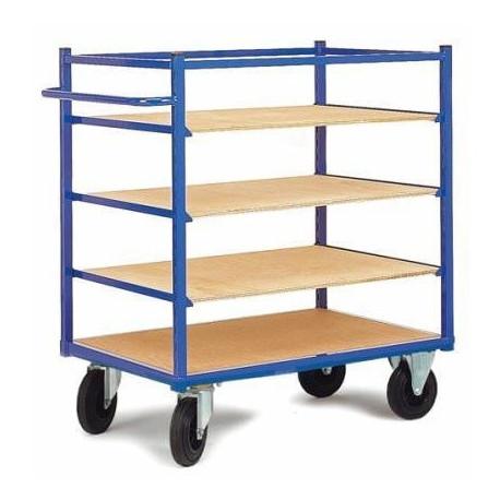 image cover Chariot haut à 1 plateau et 3 étagères