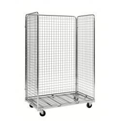 Roll conteneur à 3 côtés électro-galva, charge 400 kg