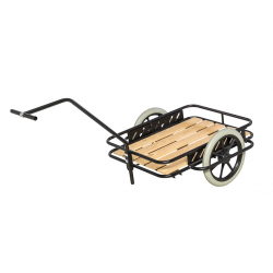 Char à bras avec plateau en bois, charge 150 kg