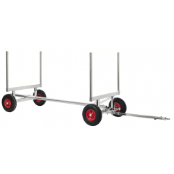 Chariot pour charges longues galvanisé, 2500 kg