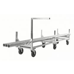 Chariot électro-galvanisé pour charges longues, 800 kg
