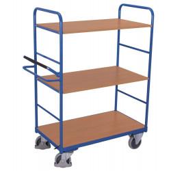 Chariot haut à 3 étagères avec système de blocage/déblocage