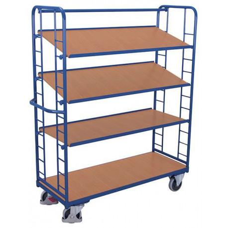 image cover Chariot haut à 4 étagères inclinées