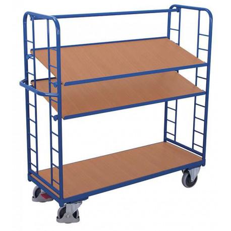 image cover Chariot à 3 étagères et 2 ridelles