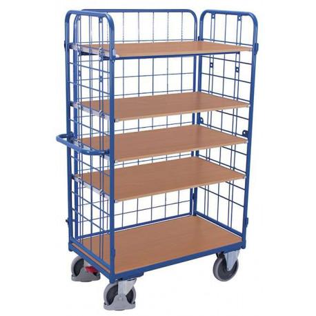 image cover Chariot haut à 5 étagères et 3 ridelles