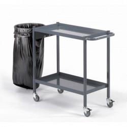 Servante à 2 ou 3 plateaux avec collecteur de déchets