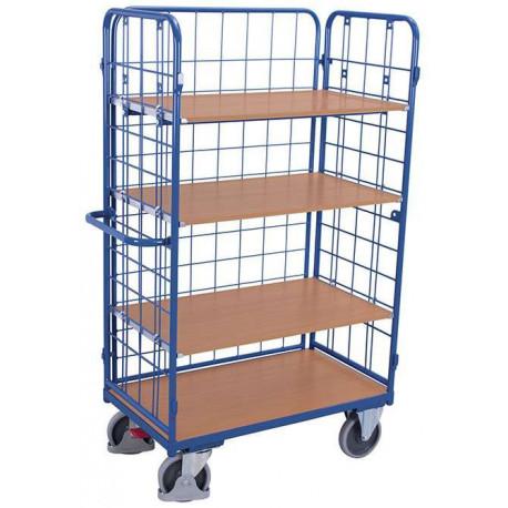 image cover Chariot haut à 4 étagères et 3 ridelles