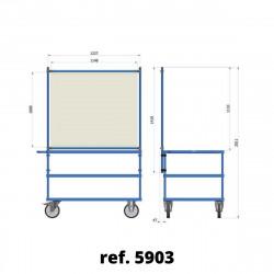 Panneau de protection COVID-19 pour établi mobile d'atelier