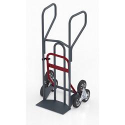 Diable escalier double pelle pro, charge 250 kg